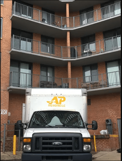 ap pro moving van moving company alexandria local mover dmv