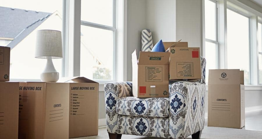 large moving boxes preparing for movers washington dc area