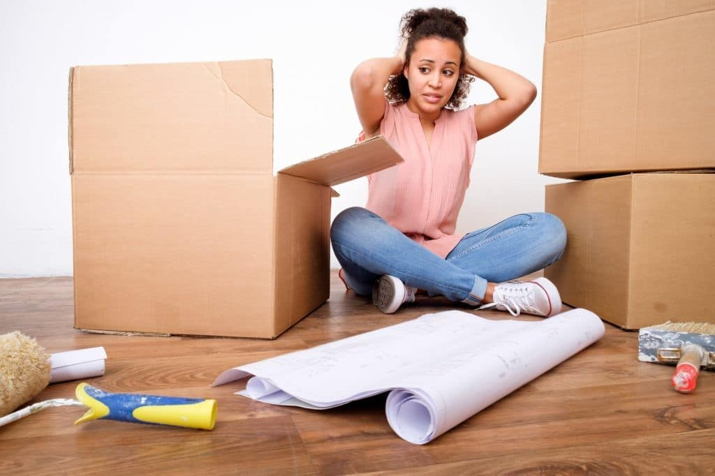 a woman stressed out because the movers washington dc are late
